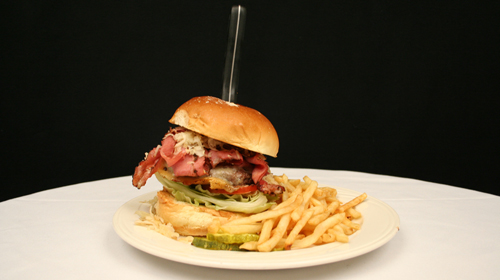 A gigantic Colossal Burger: Courtesy of Circus Circus Reno